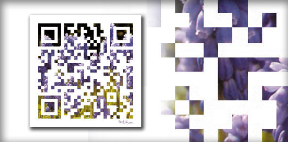 QR-Code Painting Violett A